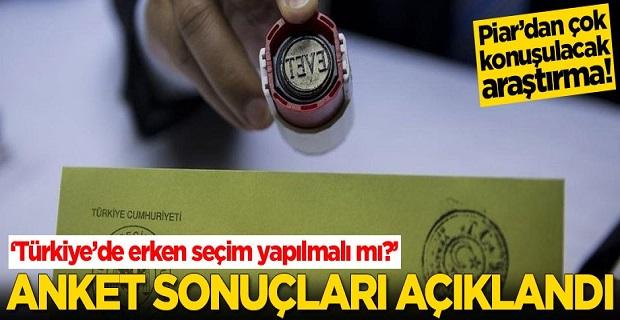 Türkiye'de erken seçim yapılmalı mı? Anket sonuçları açıklandı
