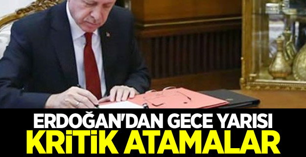 Erdoğan'dan gece yarısı kritik atamalar