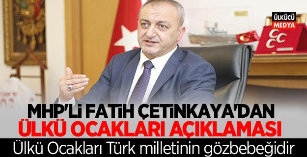 MHP'li Fatih Çetinkaya'dan Ülkü Ocakları Açıklaması