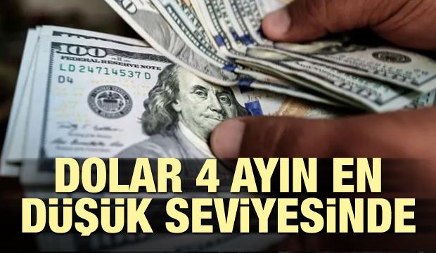 Dolar 4 Ayın En Düşük Seviyesine İndi