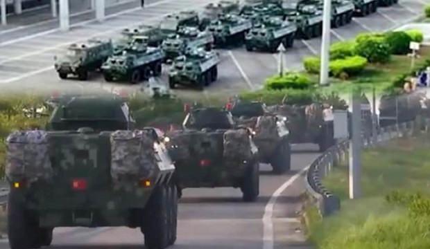 Endişeli bekleyiş! Çin Ordusu harekete geçti, korkutan görüntüler