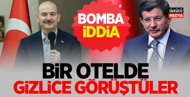 Kritik iddia: Süleyman Soylu ile Ahmet Davutoğlu bir otelde görüştü