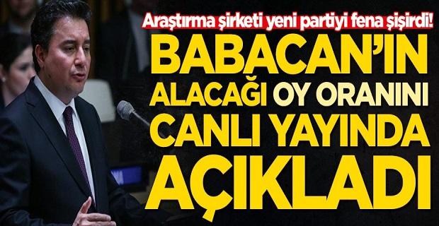 İşte Ali Babacan'ın alacağı oy oranı