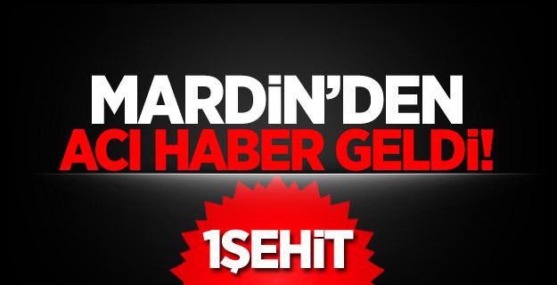 Mardin'den acı haber: 1 Özel Harekat Polisi Şehit oldu