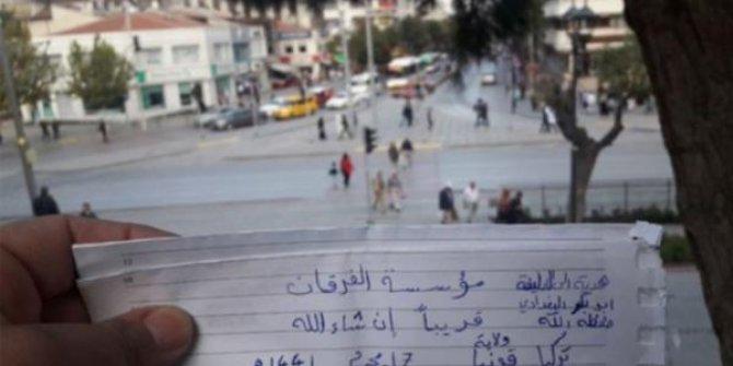 IŞİD notu paylaşan Suriyeli yakalandı!