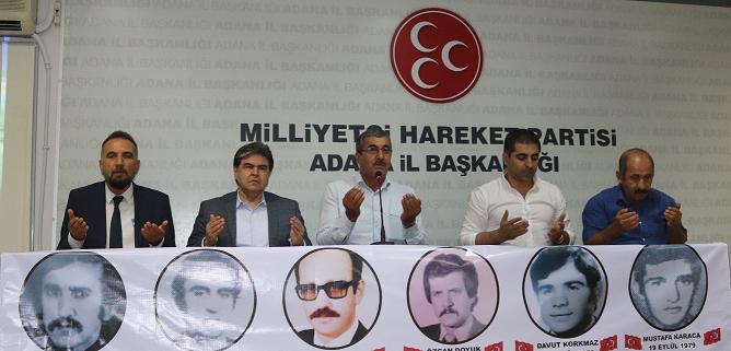 Adana'da Ülkücü Şehitler ve Kerbela Şehitlerine dua!