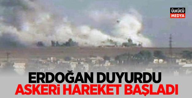 Son dakika! Cumhurbaşkanı Erdoğan duyurdu! Askeri harekat başladı