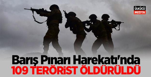 'Barış Pınarı Harekatı'nda 109 Terörist öldürülü