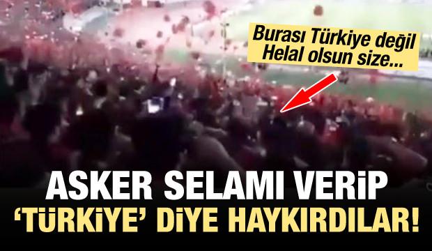 """80 bin kişi """"Türkiye"""" diye haykırdı"""