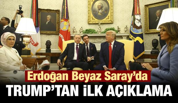 Trump'dan Erdoğan görüşmesi öncesi ilk açıklama