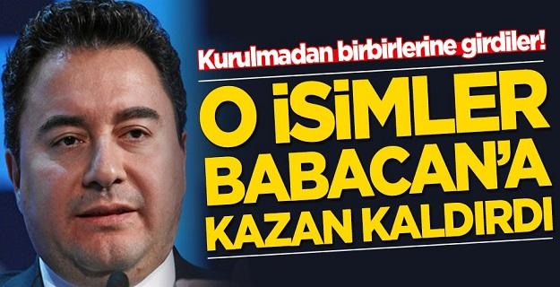 Ali Babacan'a O isimler kazan kaldırdılar