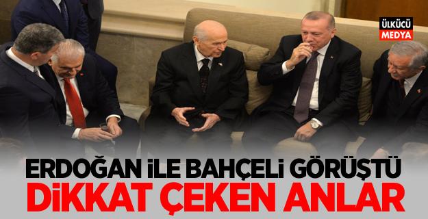 TBMM'de Erdoğan ile Bahçeli görüştü dikkat çeken anlar