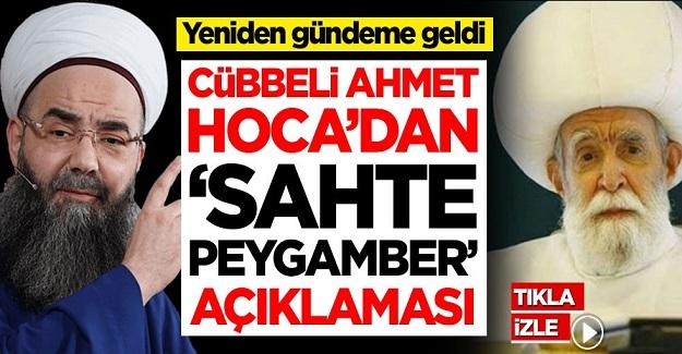 Cübbeli Ahmet Hoca'dan 'sahte peygamber' İskender Evreseoğlu açıklaması