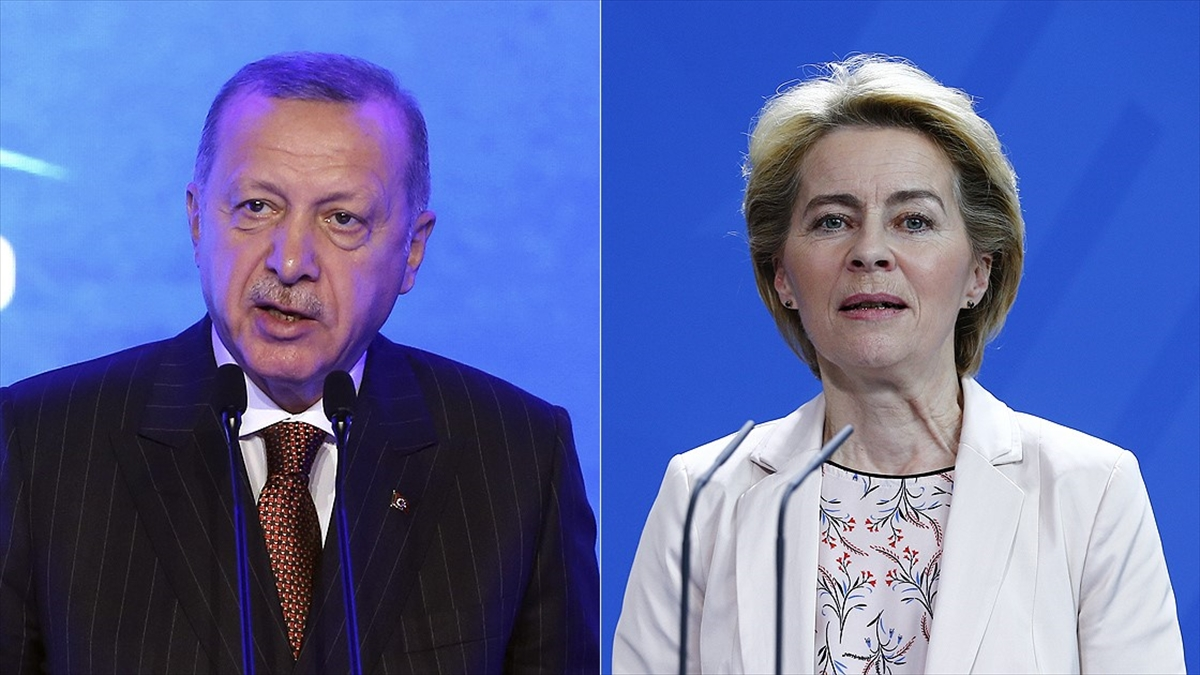 Cumhurbaşkanı Erdoğan ile yeni AB Komisyonu Başkanı von der Leyen görüştü
