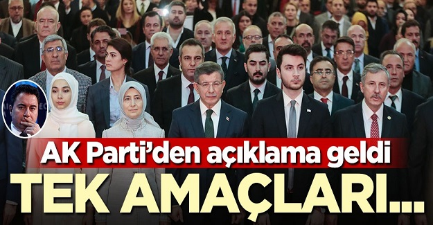AK Parti'den açıklama: Tek amaçları...