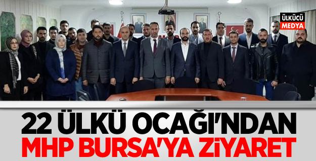 Bursa'daki 22 Ülkü Ocağı Eş Zamanlı MHP Bursa'ya ziyaret