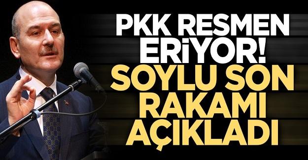 İçişleri Bakanı Süleyman Soylu son rakamı açıkladı