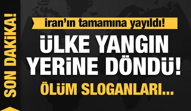 İran iyice karıştı! Tüm ülke yangın yeri! Ölüm sloganları