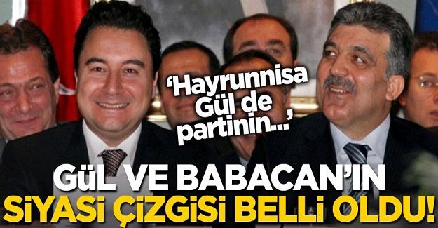 Abdullah Gül ve Babacan'ın kuracağı partinin siyasi çizgisi belli oldu!