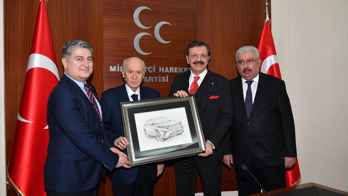 TOGG heyeti, MHP Genel Başkanı Bahçeli'yi ziyaret etti