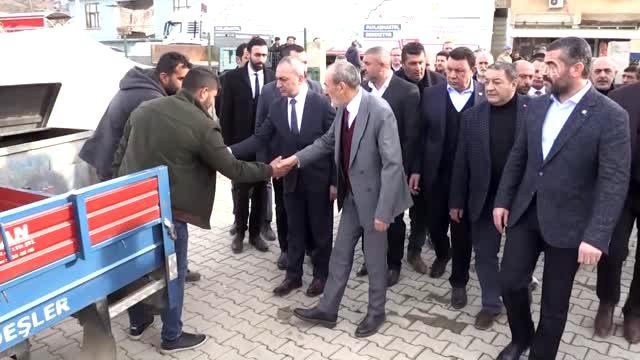 MHP heyeti Malatya'da deprem bölgesinde