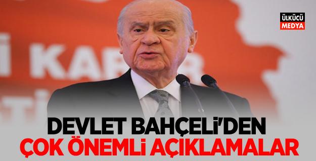 MHP Lideri Bahçeli'den çok önemli açıklamalar