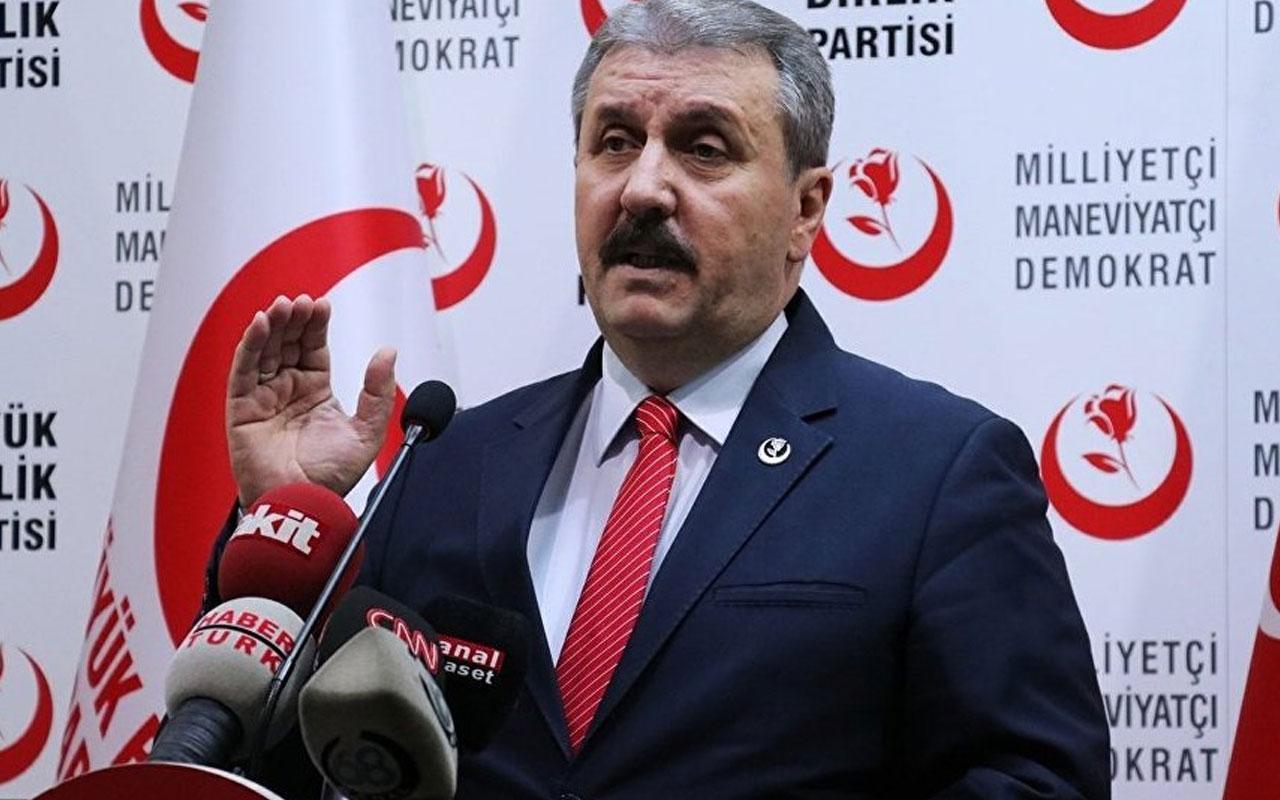 Mustafa Destici: Başsavcılık inceleme başlatıp, HDP'yi kapatmalı