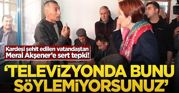 Balıkesir'de Kardeşi şehit edilen vatandaştan Meral Akşener'e sert tepki!