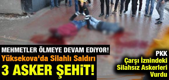 HAKKARİ'DE ASKERE SİLAHLI SALDIRI: 3 ASKER ŞEHİT !