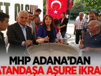 MHP Adana'dan Vatandaşa aşure ikramı