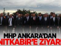 MHP Ankara'dan Anıtkabir'e ziyaret