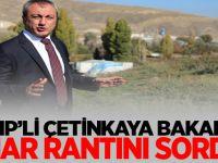 MHP Ankara İl başkanı Çetinkaya: Bakan'a imar rantını sordu