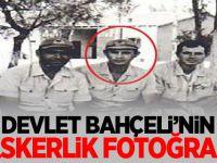 MHP lideri Devlet Bahçeli'nin askerlik fotoğrafı