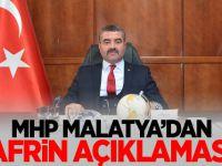 MHP Malatya İl Başkanı Avşar'ın Afrin Açıklaması