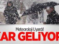 Meteoroloji Uyardı: Batıda Sağanak, Doğuda Kar Bekleniyor