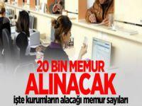 İşsizlere Müjde: 20 Bin Memur Alınacak