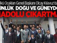 Ülkü Ocakları Genel Başkanı Olcay Kılavuz'dan 5 Günlük Doğu ve Güneydoğu Anadolu Çıkarması