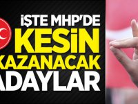 İşte MHP'de Kesin Kazanacak Adaylar Listesi