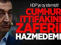 HDP'ye oy istemişti! Cumhur İttifakının zaferini hazmedemedi