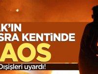 Irak'ta kaos büyüyor! Türk Dışişleri uyardı