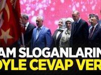 Cumhurbaşkanı Erdoğan idam sloganlarına böyle cevap verdi