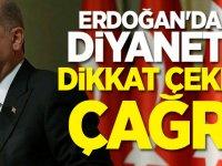Erdoğan'dan  Diyanet'e dikkat çeken çağrı