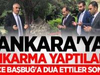 Ankara'ya çıkarma yaptılar! Önce Başbuğ'a dua ettiler sonra..