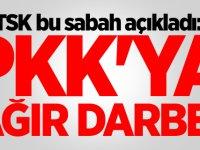 TSK bu sabah açıkladı: PKK'ya ağır darbe!