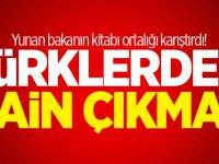 Yunan bakanın kitabı ortalığı karıştırdı! Türklerden hain çıkmaz