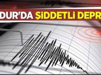 Burdur'da şiddetli deprem!