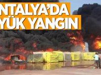 Antalya'da OSB'de büyük yangın