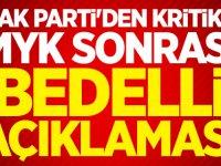 Ak Parti'den kritik MYK sonrası 'Bedelli' açıklaması