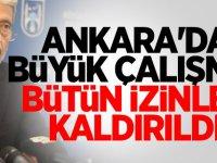 Mustafa Tuna, Ankara'da izinleri kaldırdı