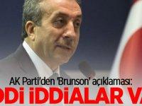 AK Parti'den 'Brunson' açıklaması!